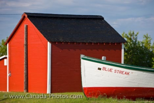 Photo: Historic Boat Sheds Hecla Village Lake Winnipeg Manitoba