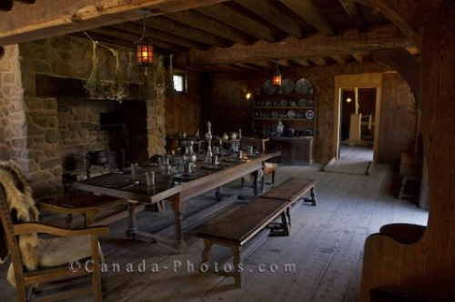 Photo: Historic Dining Room Port Royal National Historic Site Nova Scotia