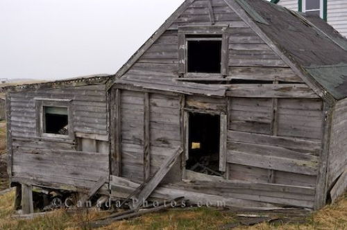 Photo: Historic Fishing Stage Battle Harbour Southern Labrador