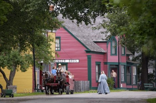 Photo: Historic Horse Drawn Wagon Wharf Road Sherbrooke Village