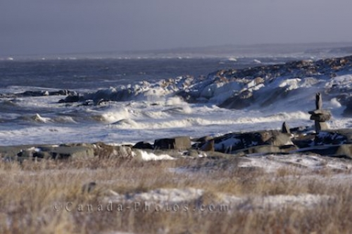 Photo: Hudson Bay Frozen Coastline Manitoba