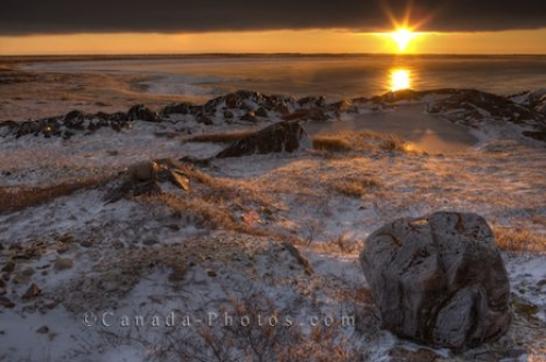 Photo: Husdon Bay Coastline Sunset Churchill Manitoba