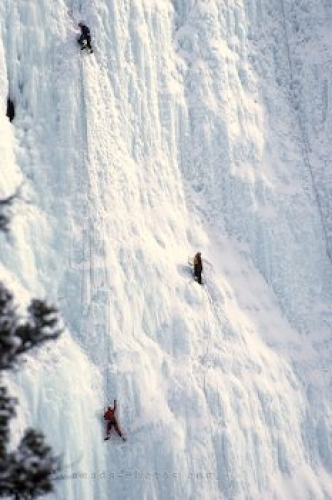 Photo: Ice Climbers Banff NP Alberta
