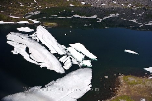 Photo: Ice Lake Aerial Mealy Mountains Southern Labrador