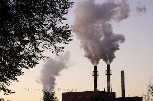 Photo: Industrial Plant Pollution Pipes Sault Ste Marie