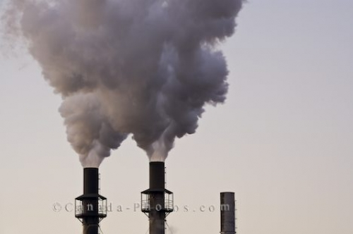 Photo: Industrial Plant Smoke Sault Ste Marie Ontario