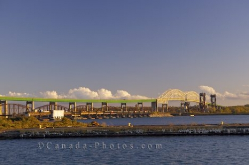 Photo: International Bridge From Soo Locks Sault Ste Marie Ontario