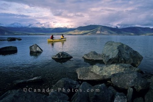 Photo: Kluane Lake Canoeing Yukon