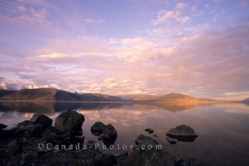 Photo: Kluane Lake Sunset