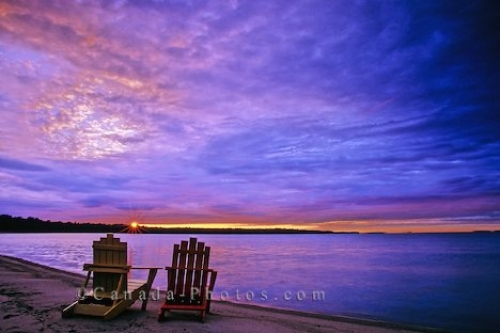 Photo: Lake Huron Sunset Ontario