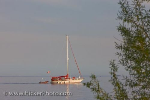 Photo: Lake Ontario Sailboat Toronto City Ontario