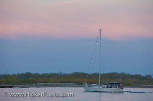 Photo: Lake Ontario Sunset Sailboat Toronto Ontario