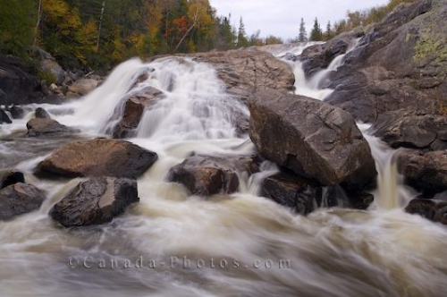 Photo: Lake Superior Provincial Park Waterfall Sand River