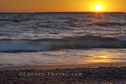 Photo: Lake Superior Provincial Park Sunset Beach