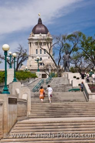 Photo: Legislative Building Stairs Winnipeg City Manitoba