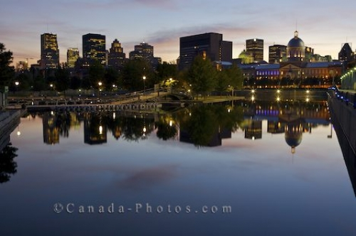 Photo: Light Reflection Downtown Montreal Basin