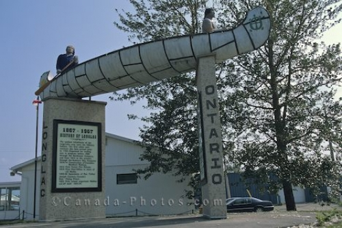Photo: Longlac Welcoming Sign Ontario