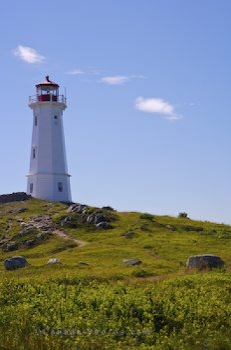 Photo: Louisbourg Light Lighthouse Point Cape Breton Nova Scotia