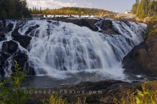 Photo: Magpie High Falls Scenery Magpie River Wawa Ontario