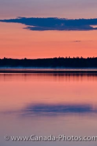 Photo: Manitoba Sunset Lake Audy Riding Mountain National Park