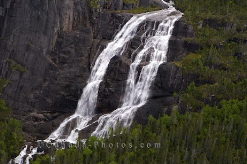 Photo: Mealy Mountains Waterfall Southern Labrador