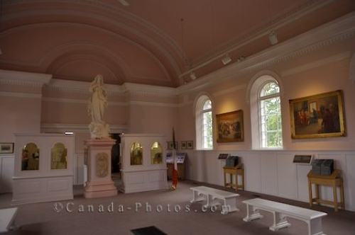 Photo: Memorial Church Interior Grand Pre National Historic Site