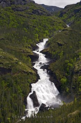 Photo: Mountain Waterfall Southern Labrador