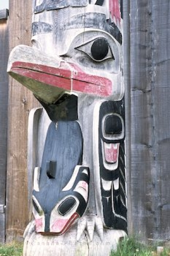 Photo: Native Totem Queen Charlotte Islands