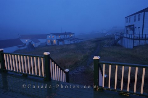 Photo: Night Fog Battle Harbour Southern Labrador Canada