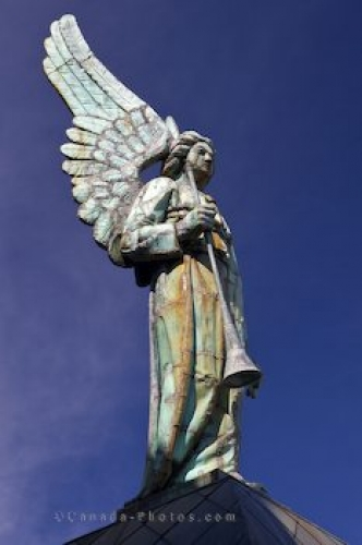 Photo: Notre Dame De Bon Secours Chapel Angel Statue Montreal