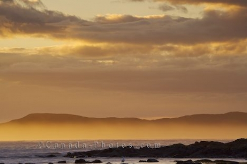 Photo: Ocean Islands Fog Sunset L Anse Aux Meadows Newfoundland