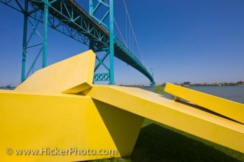 Photo: Odette Park Sculpture Bridge Picture Windsor Ontario