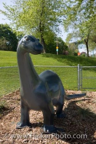 Photo: Odette Sculpture Park Dinosaur Statue Windsor Ontario