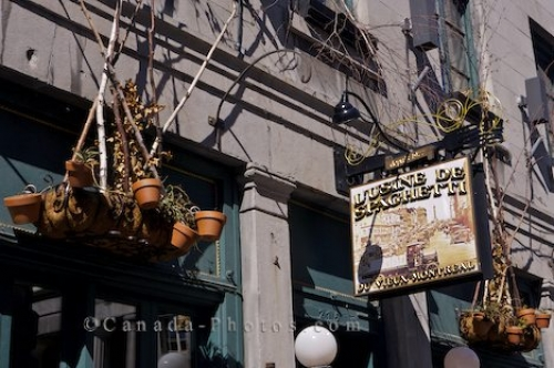 Photo: Old Montreal Restaurant Sign Quebec