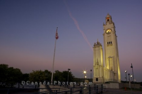 Photo: Old Port Clock Tower Sunset Montreal Quebec Canada