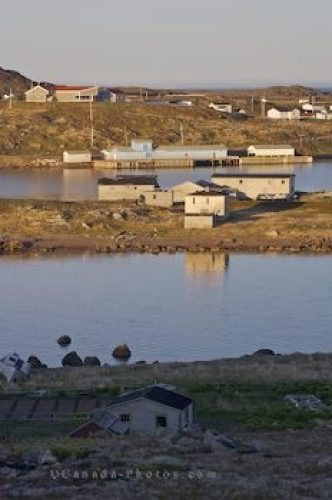 Photo: Organs Island Buildings Boney Shore Trail Southern Labrador