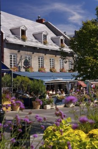 Photo: Outdoor Restaurants Place Jacques Cartier Quebec