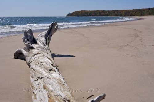 Photo: Pancake Bay Sandy Beach Pancake Bay Provincial Park Ontario