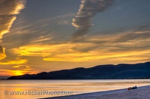 Photo: People Sunset Agawa Bay Beach Ontario