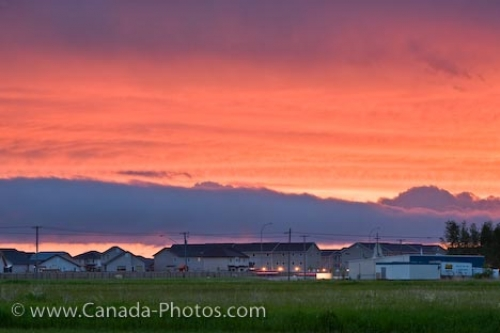 Photo: Pink Sunset Cloud Formations City Of Winnipeg Manitoba