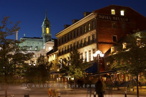Photo: Place Jacques Cartier Buildings Night
