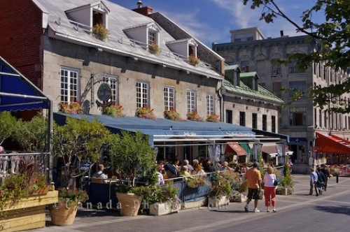 Photo: Place Jacques Cartier Restaurants Old Montreal