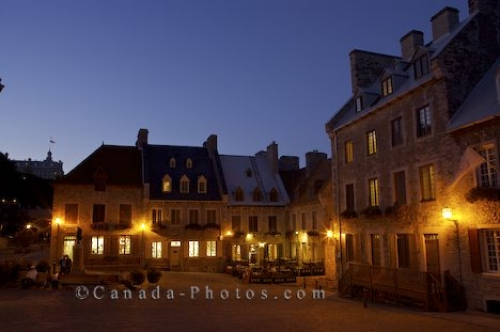 Photo: Place Royale Night Lights Historic Buildings