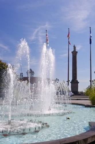 Photo: Place Vauquelin Fountain Old Montreal