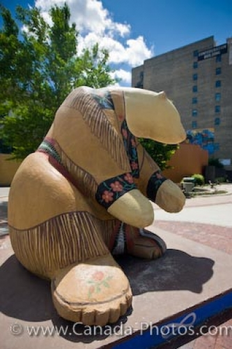 Photo: Polar Bear Indian Statue Pantages Playhouse Winnipeg