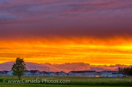 Photo: Prairie City Sunset Cloud Formations Winnipeg Manitoba