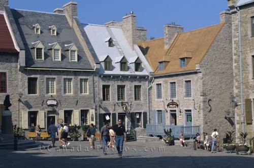 Photo: Quebec City Place Royale Buildings Canada
