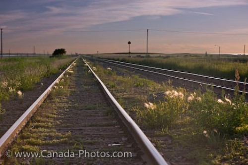 Photo: Railway Tracks Morse Saskatchewan Canada