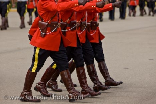 Photo: RCMP Academy Marching Uniforms Regina City Saskatchewan