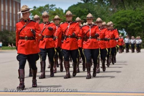 Photo: RCMP Academy Ceremony Uniforms Regina City Saskatchewan